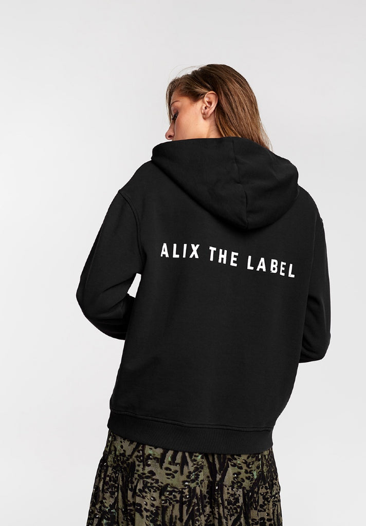 ALIX THE LABEL OVERSIZED HOODIE BLACK - Your Trends&Brands