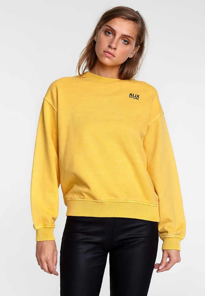 ALIX THE LABEL OVERSIZED ON TOUR SWEATER HONEY YELLOW - Your Trends&Brands