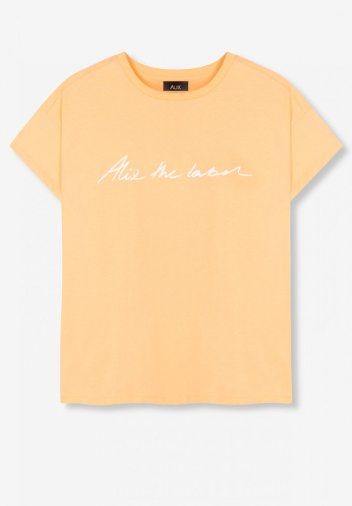 ALIX THE LABEL T-SHIRT  SALMON - Your Trends&Brands