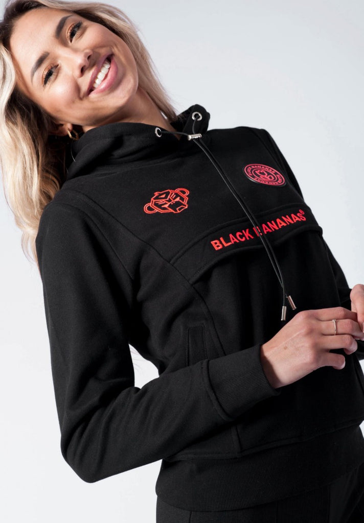 BLACK BANANAS ANORAK FLEECE HOODY BLACK - Your Trends&Brands
