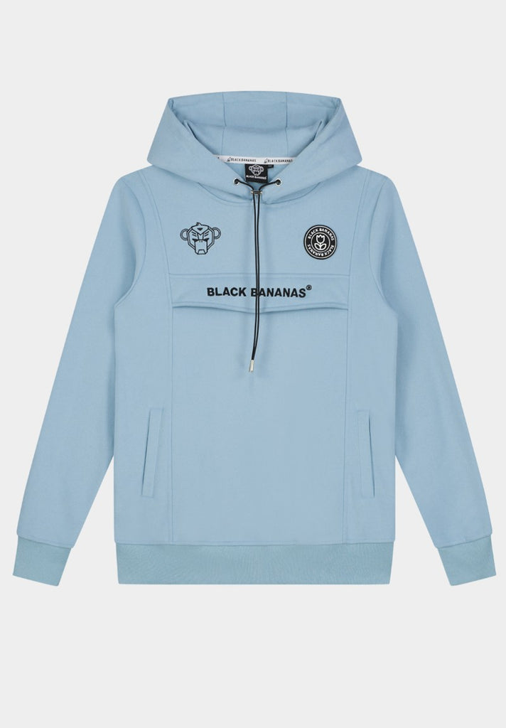 BLACK BANANAS ANORAK HOODY  LIGHT BLUE - Your Trends&Brands