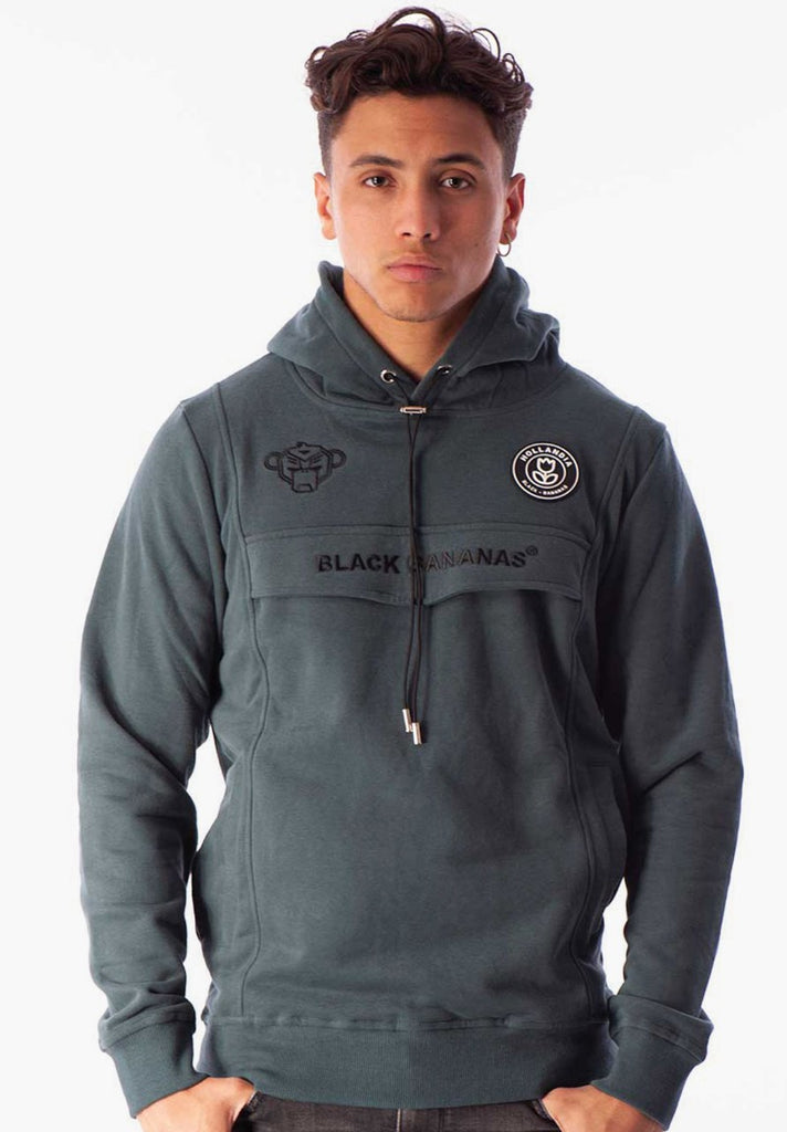 BLACK BANANAS ANORAK HOODY PETROL GREEN - Your Trends&Brands