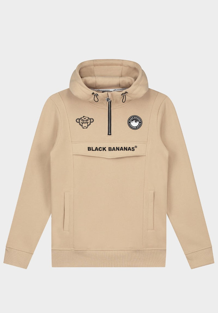 BLACK BANANAS ANORAK PULL-UP HOODY SAND - Your Trends&Brands
