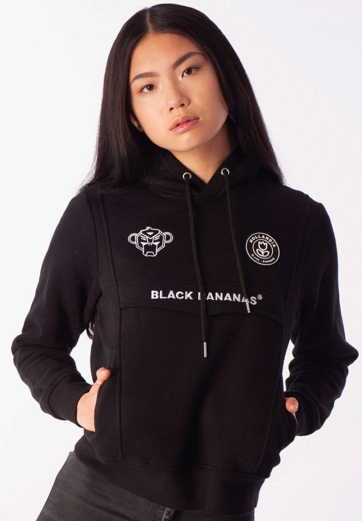 BLACK BANANAS DAMES ANORAK HOODY BLACK - Your Trends&Brands