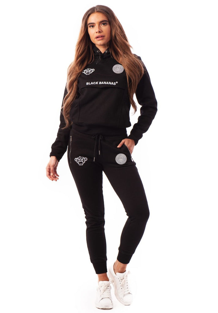 BLACK BANANAS DAMES ANORAK TRACKSUIT BLACK - Your Trends&Brands