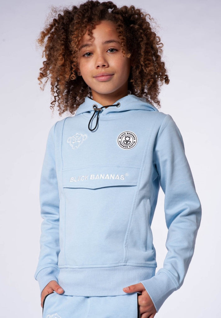 BLACK BANANAS GIRLS ANORAK TRACKSUIT  LIGHT BLUE - Your Trends&Brands