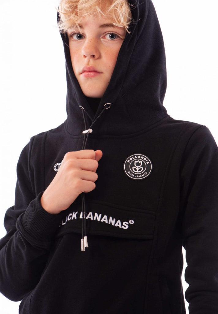 BLACK BANANAS KIDS ANORAK HOODY BLACK - Your Trends&Brands