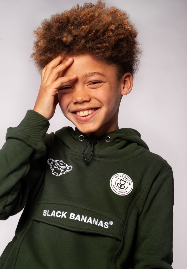 BLACK BANANAS KIDS ANORAK HOODY MOSS GREEN - Your Trends&Brands