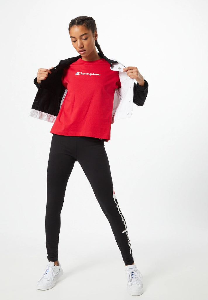CHAMPION CREWNECK T-SHIRT RED - Your Trends&Brands