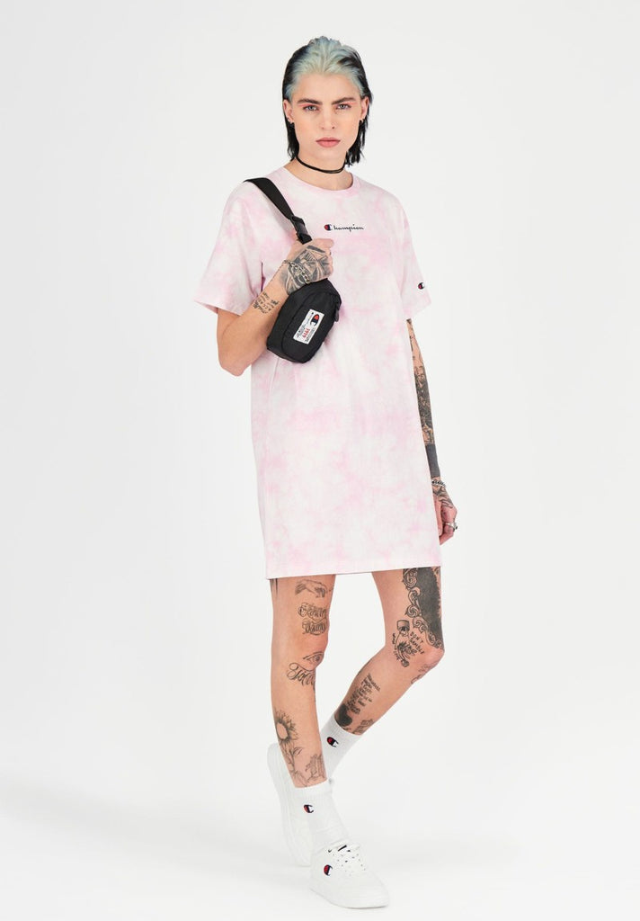 CHAMPION TIE DYE T-SHIRT DRESS - Your Trends&Brands