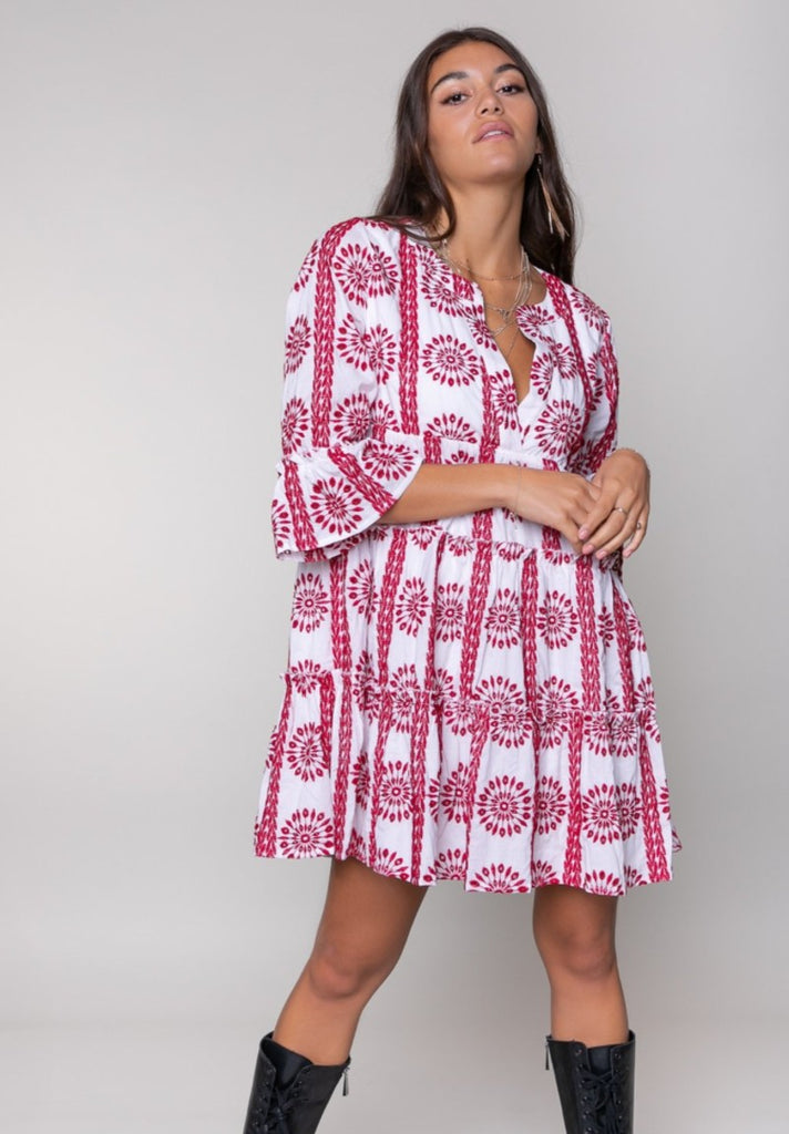COLOURFUL REBEL INDY BRODERIE ANGLAISE BOHO DRESS - Your Trends&Brands