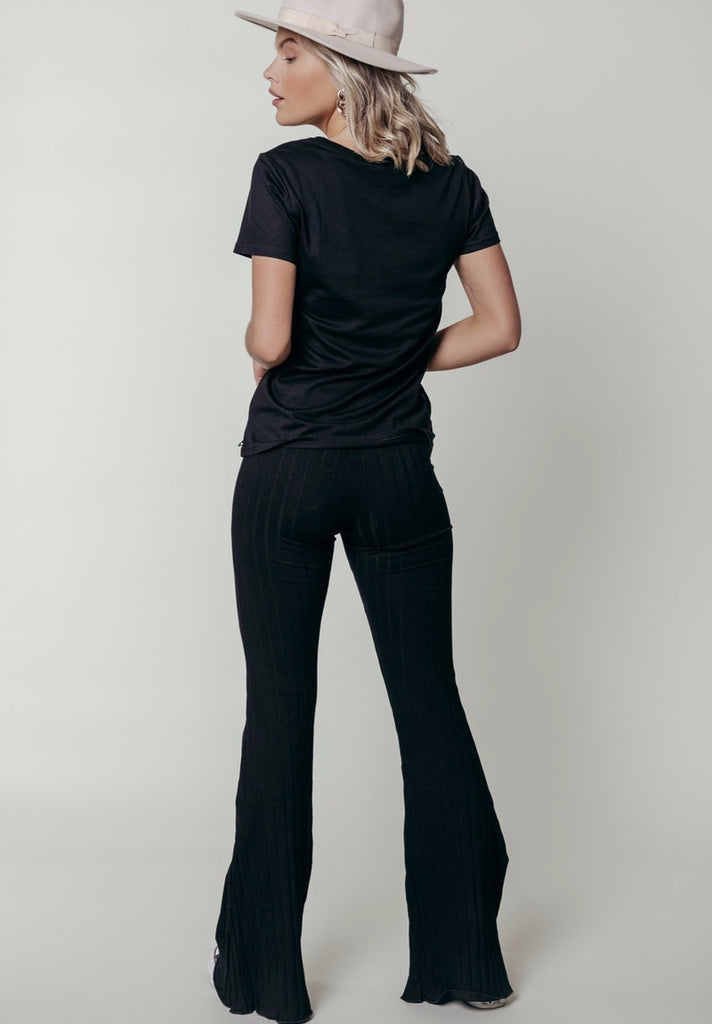 COLOURFUL REBEL NOA RIB FLARE PANTS - Your Trends&Brands
