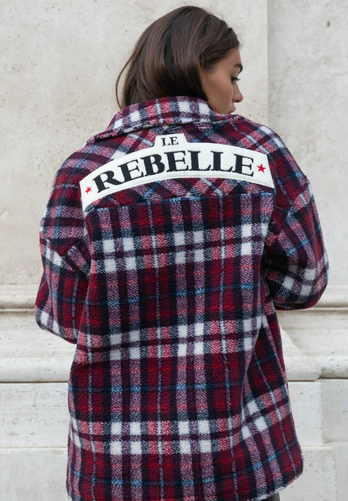 COLOURFUL REBEL STELLA REBELLE CHECK TEDDY JACKET - Your Trends&Brands