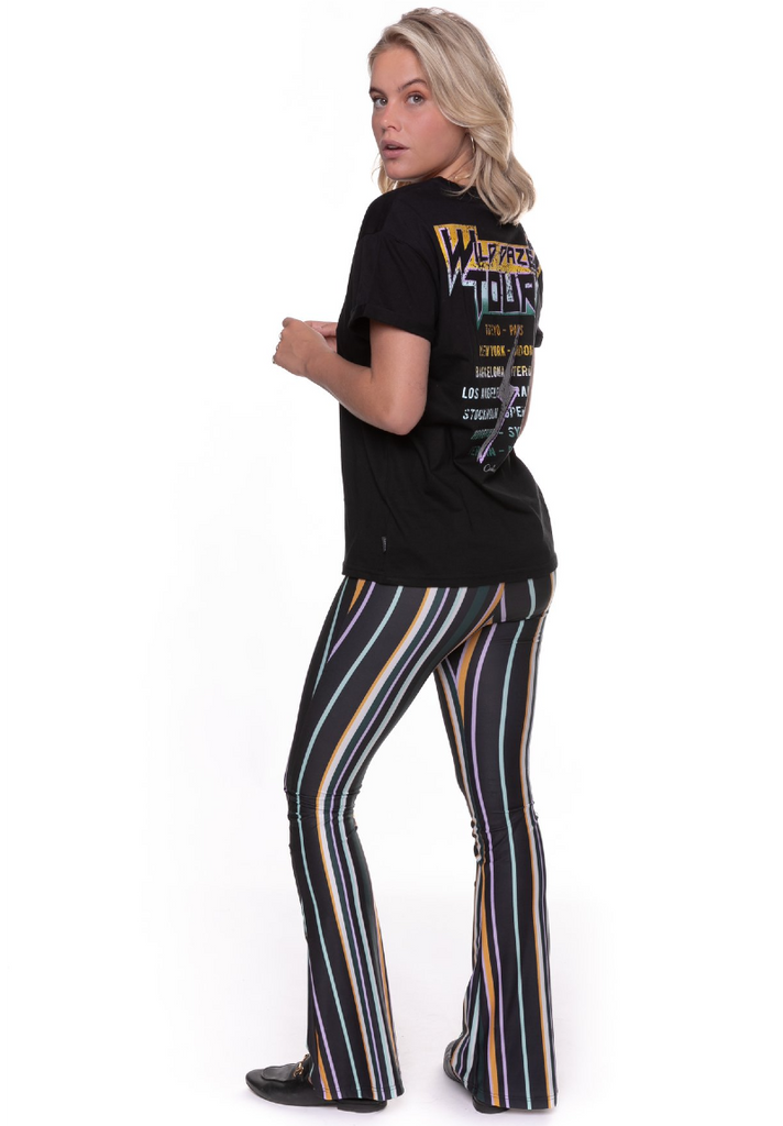 COLOURFUL REBEL STRIPE BASIC FLARE - Your Trends&Brands