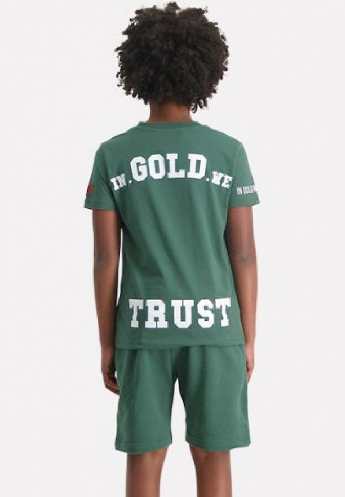 IN GOLD WE TRUST KIDS SUSTAIN T-SHIRT - Your Trends&Brands