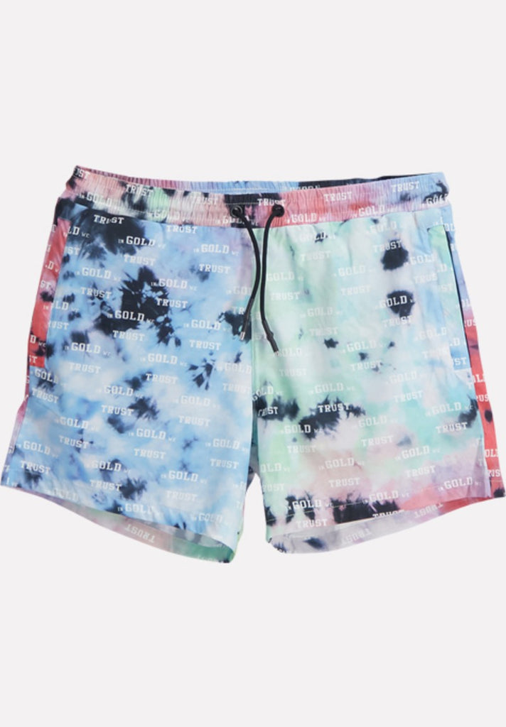 IN GOLD WE TRUST TIE DYE SWIMSHORTS - Your Trends&Brands
