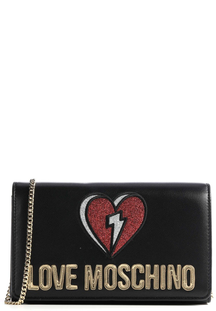 LOVE MOSCHINO GLITTER HEART CROSSBODY BAG - Your Trends&Brands
