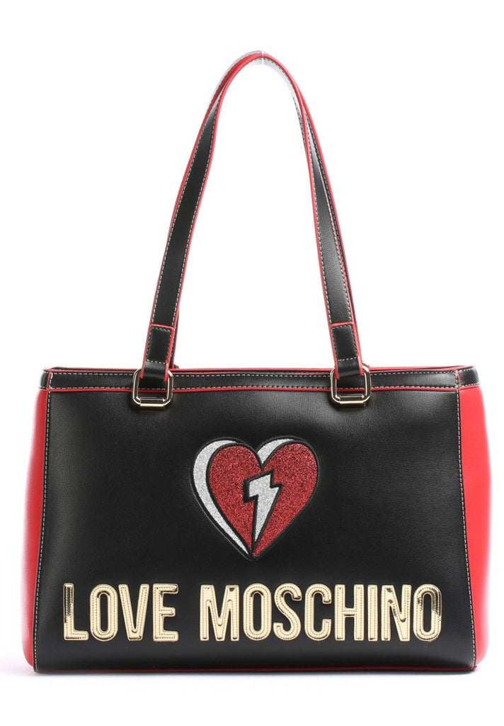 LOVE MOSCHINO GLITTER HEART SHOPPER - Your Trends&Brands