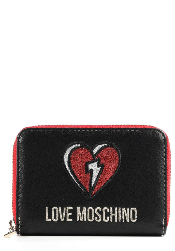 LOVE MOSCHINO GLITTER HEART WALLET - Your Trends&Brands