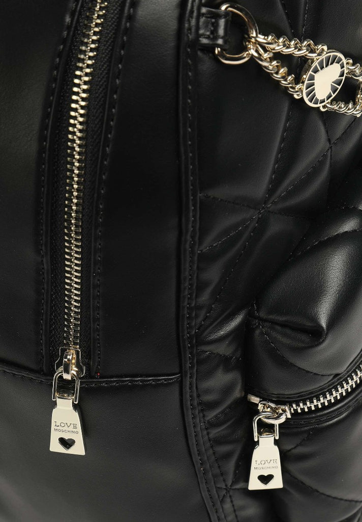 LOVE MOSCHINO QUILTED BACKPACK BLACK - Your Trends&Brands