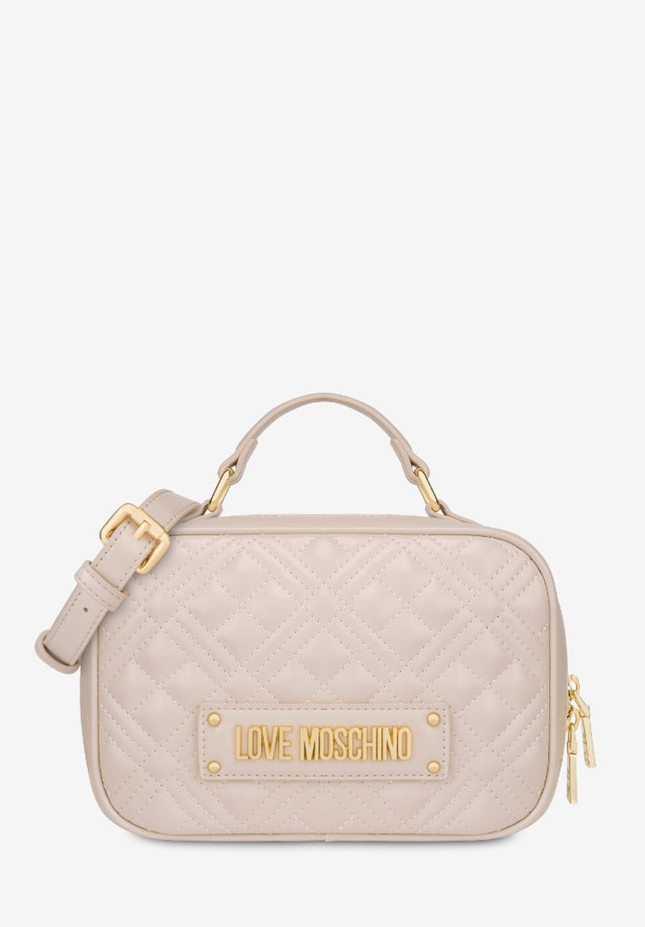 LOVE MOSCHINO QUILTED CAMERA BAG  IVORY - Your Trends&Brands
