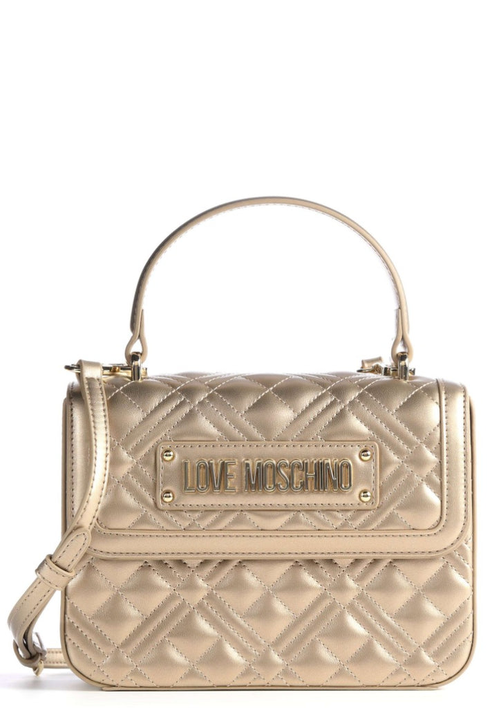 LOVE MOSCHINO QUILTED EVENING BAG  GOLD - Your Trends&Brands