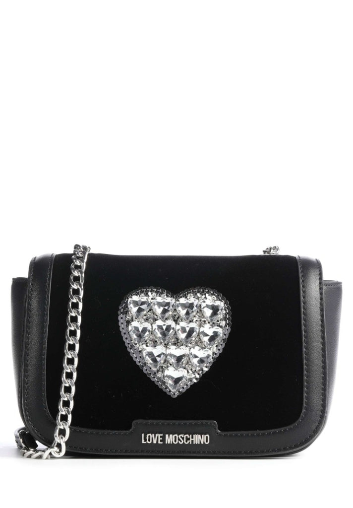 LOVE MOSCHINO SEQUINS HEART CROSSBODY BAG - Your Trends&Brands