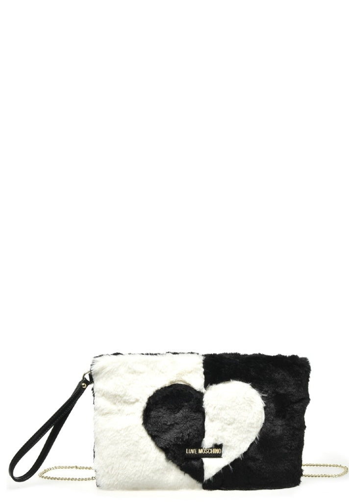 LOVE MOSCHINO TENDER CLUTCH  BLACK - Your Trends&Brands
