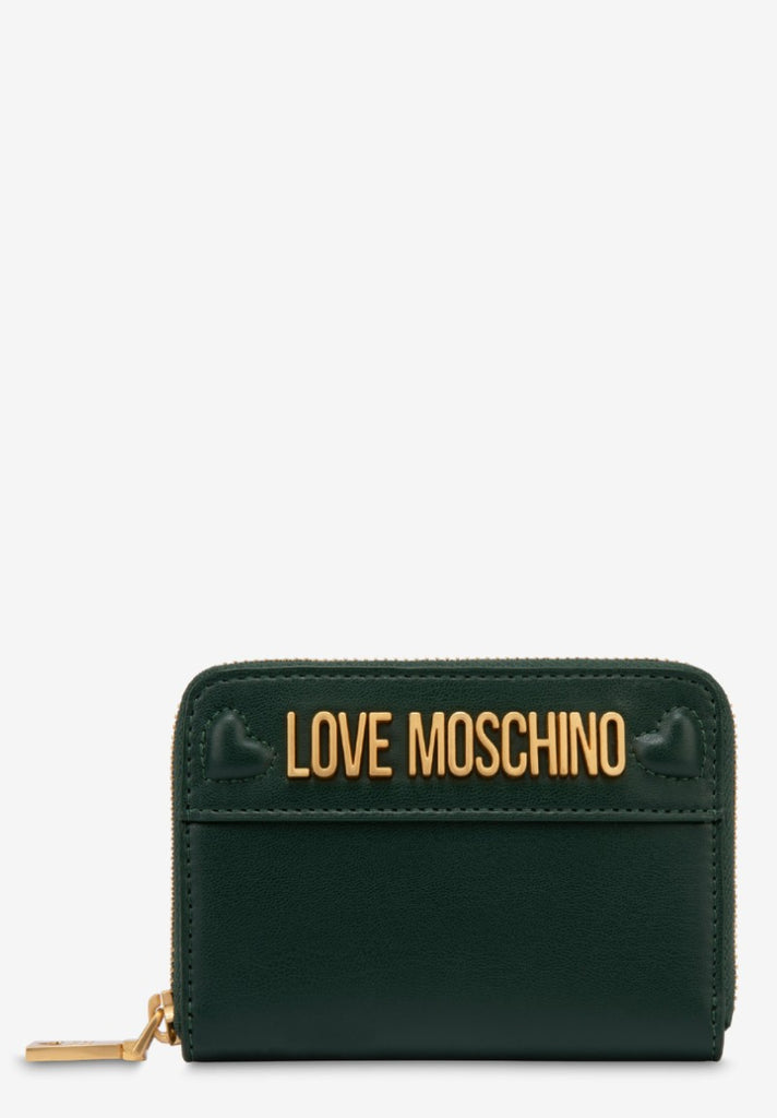LOVE MOSCHINO WALLET WITH LOGO GREEN - Your Trends&Brands