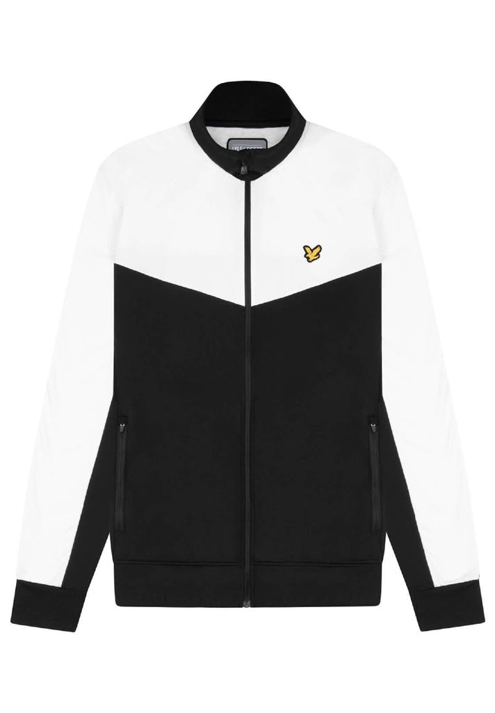 LYLE & SCOTT CHEVRON TRACK JACKET TRUE BLACK - Your Trends&Brands
