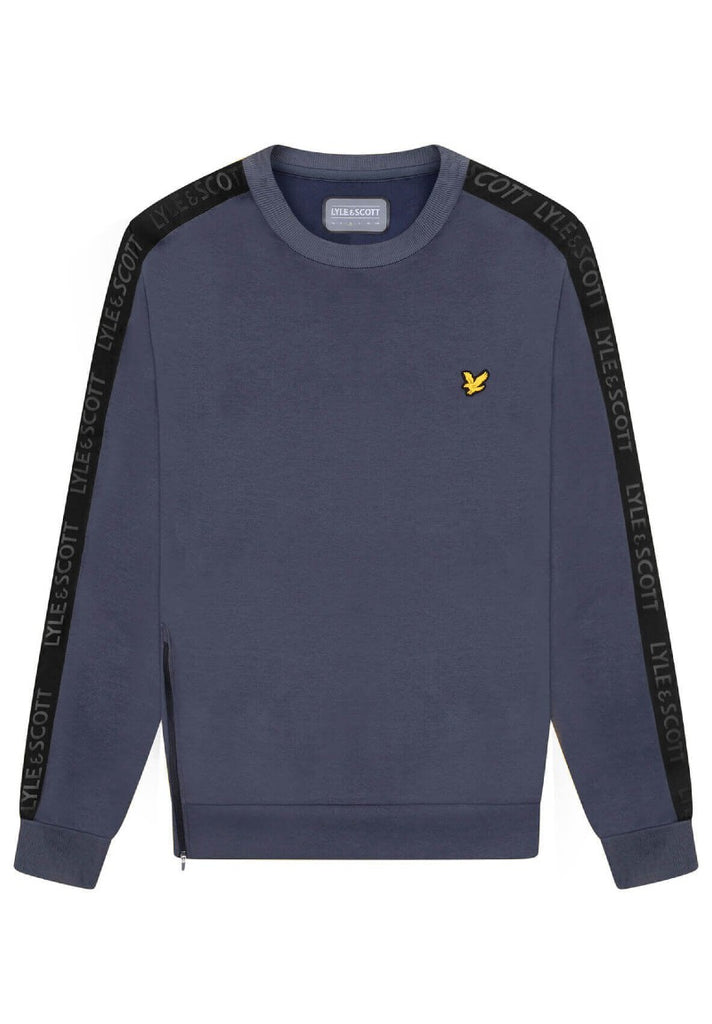 LYLE & SCOTT SLEEVE TAPE CREW OBSERVER GREY - Your Trends&Brands