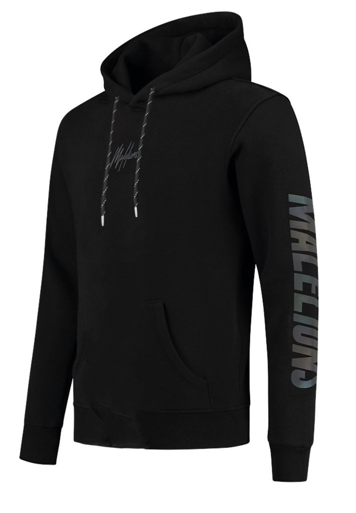 MALELIONS HOODY RAINBOW REFLECTIVE BLACK - Your Trends&Brands