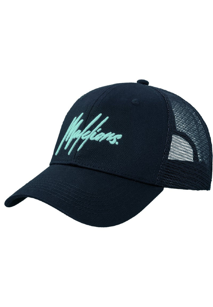 MALELIONS KIDS CAP SIGNATURE MINT - NAVY - Your Trends&Brands