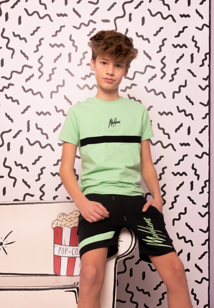 MALELIONS KIDS T-SHIRT TONNY MINT - NAVY - Your Trends&Brands