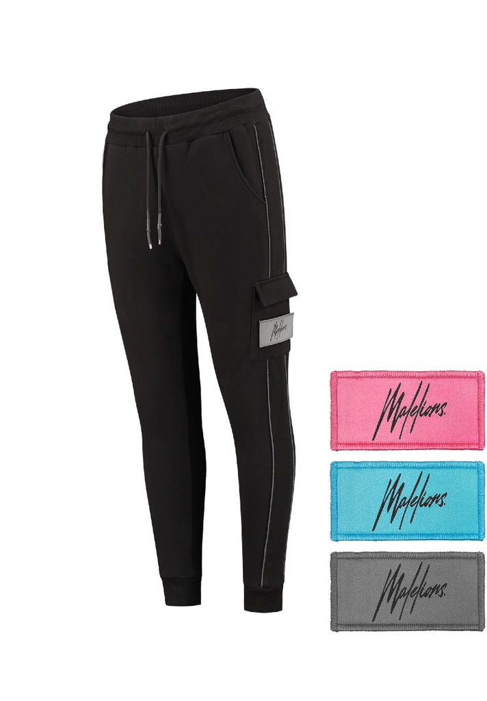 MALELIONS VELCRO TRACKPANTS BLACK - Your Trends&Brands