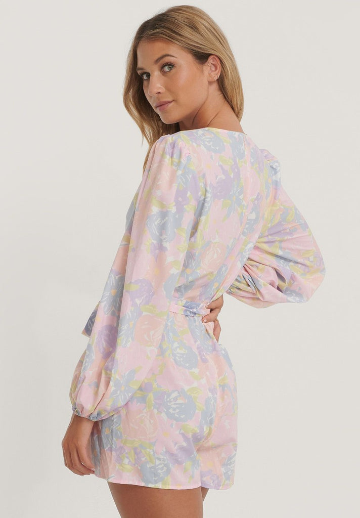 NA-KD BALLOON SLEEVE PLAYSUIT - Your Trends&Brands