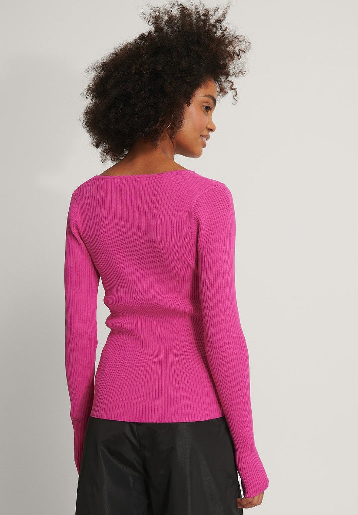 NA-KD CHEST DETAIL KNITTED SWEATER - Your Trends&Brands