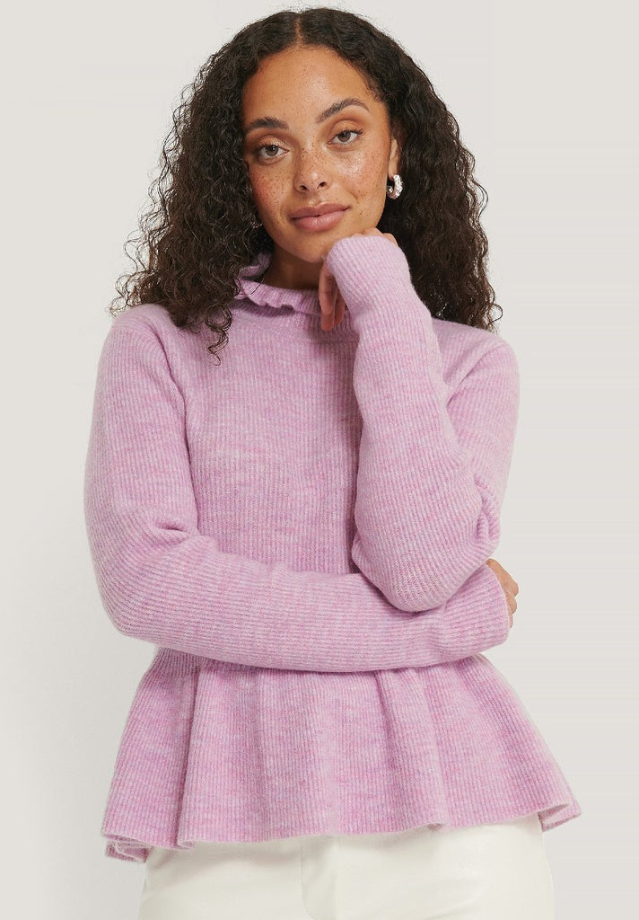 NA-KD FRILL DETAILED KNITTED SWEATER - Your Trends&Brands