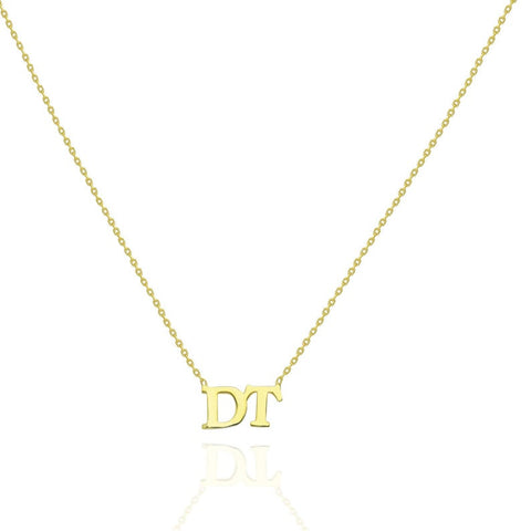 14k Gold Personalized Initial Necklace