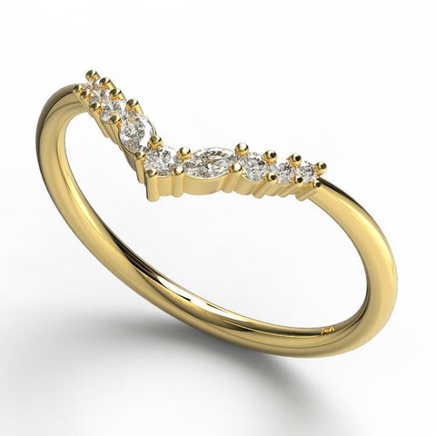 Marquise Diamond Stacking Ring