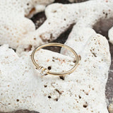 Petite Gold Diamond Cluster Stacking Ring