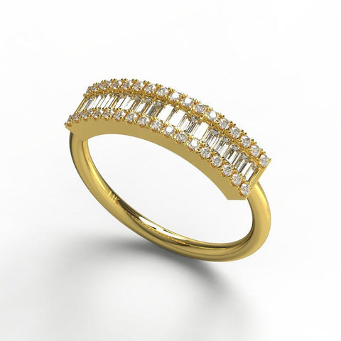 Vertical Diamond Wedding Ring