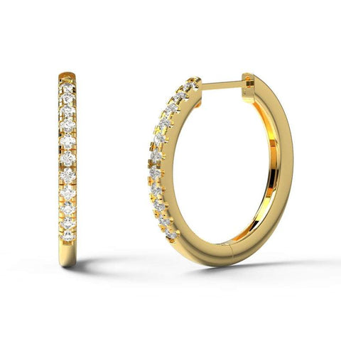 0.10CT Diamond Hoop Earrings