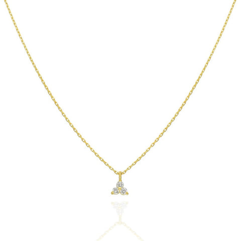 14k Gold Round Diamond Dangling Layer Necklace
