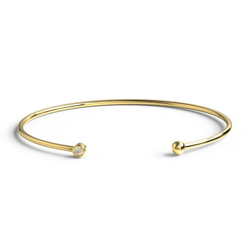 14k Gold Bezel Diamond Bracelet