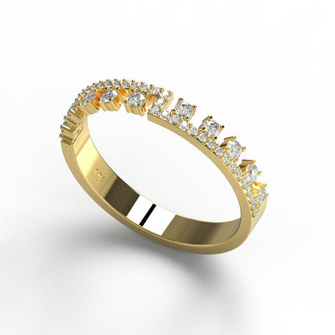14k Gold Unique Diamond Wedding Ring