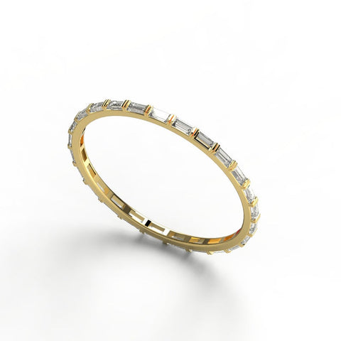 14k Gold Eternity Baguette Diamond Wedding Band