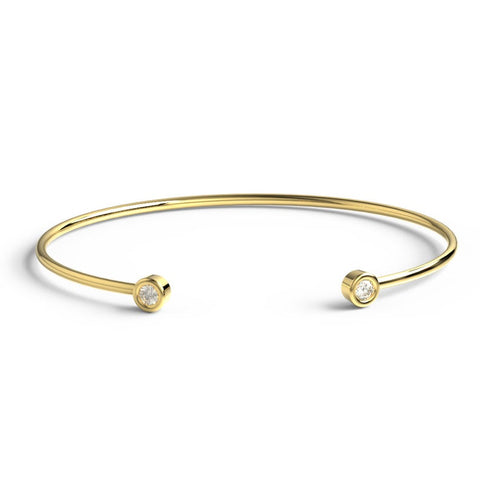 14k Gold Diamond Cuff Bracelet