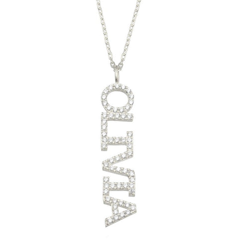 Olivia 14k Personalized Diamond Name Necklace