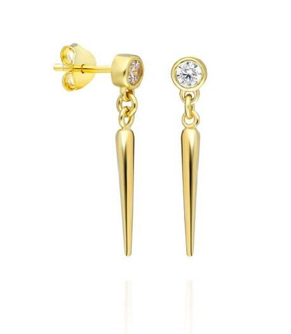 Diamond Dangling Spike Earrings